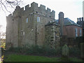 NU2322 : The Old Vicarage and peel tower, Embleton by Karl and Ali