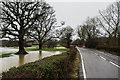 TQ2347 : Flanchford Bridge - Christmas 2013 floods  by Ian Capper