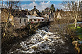 NX8361 : Dalbeattie Burn by Hugh Close