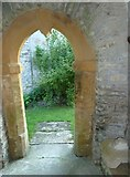 ST5906 : St Edwold, Stockwood: west door by Basher Eyre
