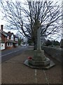 SY6593 : The village war memorial in Stratton by David Smith