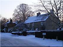 TF1505 : Rectory Lane, Glinton, in the snow by Paul Bryan
