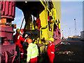 J3575 : Entering the crane 'Samson', Belfast by Rossographer
