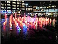 SJ8498 : Piccadilly Gardens Fountains at Christmas (3) by David Dixon