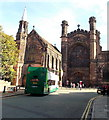 SJ4066 : Open-top double-decker bus in front of Chester Cathedral by Jaggery