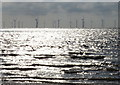 TF5762 : Lynn Offshore Windfarm viewed from Skegness Beach by Mat Fascione