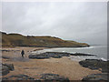 NU1635 : Beach east of Budle Point by Karl and Ali