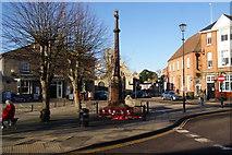 TL8783 : War memorial in Thetford by Bill Boaden
