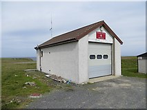 HT9737 : Fire station, Foula by Richard Webb