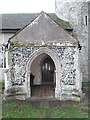TM4274 : Entrance Porch of St.Peter's Church by Adrian Cable