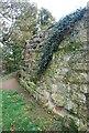 TQ5846 : Ruined keep wall by N Chadwick