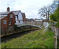 SO4959 : Early Victorian footbridge over the Kenwater in Leominster by Jaggery