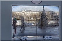 TQ3180 : Reflections on the South Bank, London SE1 by Christine Matthews