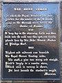 NT2471 : The Bore Stone plaque by M J Richardson