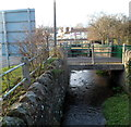 SO5517 : Footbridge over a stream, Whitchurch by Jaggery