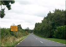 N2520 : Approaching the dangerous bend on the R357 outside the village of Blue Ball, Offaly by Eric Jones