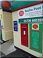 SW9859 : Roche: postbox № PL26 95, Fore Street by Chris Downer