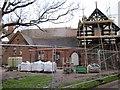 SJ4166 : Grosvenor Park Lodge under renovation by Jeff Buck