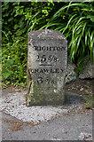 TQ2642 : Milestone, Povey Cross Road by Ian Capper