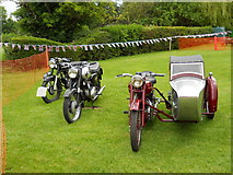 TF1505 : Vintage motorcycles at The Blue Bell, Glinton by Paul Bryan
