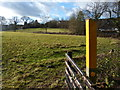 SK6202 : Footpath marker along Gartee Road by Mat Fascione