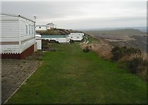 TA0983 : Mobile holiday homes, Gristhorpe Cliff by Christopher Hall