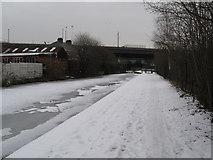 SP0990 : Snowy way to Fazeley-Aston, Birmingham by Martin Richard Phelan