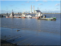 TQ6674 : Tugs at Denton Wharf by Marathon