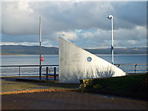 NS2876 : Sculpture on Greenock Waterfront by Thomas Nugent