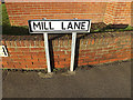 TM2737 : Mill Lane sign by Adrian Cable