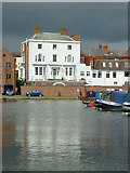 SO8171 : Looking across Stourport Clock Basin, Worcestershire by Roger  Kidd