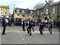 TL2797 : Summertown Morris dancing on The Market - Whittlesea Straw Bear Festival 2014 by Richard Humphrey