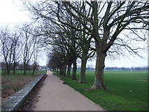 TQ7668 : Path between Marlborough Road and Sally Port Gardens, Brompton by Chris Whippet