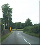 N7382 : Sharp bend in the R164 on the southern outskirts of Moynalty by Eric Jones