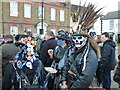TL2797 : Skull face - Whittlesea Straw Bear Festival 2014 by Richard Humphrey