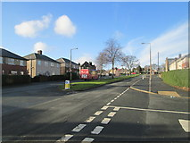 SE0726 : Ovenden Way - viewed from Vegal Crescent by Betty Longbottom