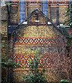 TQ3078 : Polychromatic patterned brickwork, St Peter's Church by Julian Osley