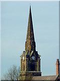 SO9098 : St Mark's Church spire, Wolverhampton by Roger  Kidd