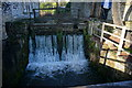 SK2168 : Victoria Mill, sluice by Peter Barr