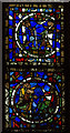 SK9771 : Detail of Stained Glass, Lincoln Cathedral by J.Hannan-Briggs