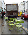 SP3166 : Pavement chairs and tables, Warwick Street, Leamington by Robin Stott