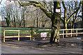 SJ8687 : Access gate to archers' practice field by Geoff Royle