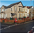ST3086 : Pillarbox on the corner of Waterloo Road and Gaer Street, Newport by Jaggery