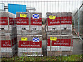 NS3474 : Marshalls paving blocks, made in Scotland by Thomas Nugent