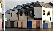 J3674 : Fire-damaged building, Connswater, Belfast (1) by Albert Bridge