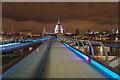TQ3280 : Across the Millennium Bridge, London, SE1 by Christine Matthews