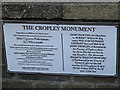 TQ1774 : Plaque for the Cropley monument by Stephen Craven