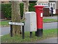 TQ0361 : West Byfleet: postbox № KT14 157, Woodlands Avenue by Chris Downer