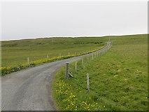 HU6390 : Road from Aith Ness by Richard Webb