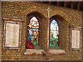 TQ2973 : St Thomas church - war memorial window by Stephen Craven